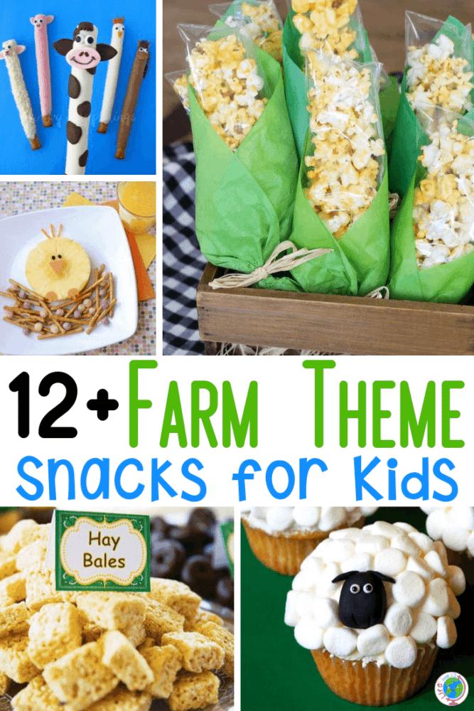 Preschool farm theme snacks to go with farm activities in your preschool classroom.