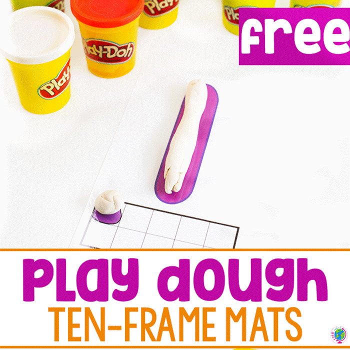 Build the number two with play dough and fill in the matching ten-frame with balls of play dough