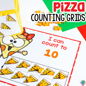 count to 10 pizza mini eraser counting grid for preschool math activities