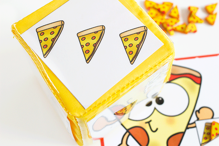 differentiated instruction cube for pizza mini erasers counting game for number grids