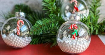 A fun Candy Cane Christmas ornament for preschoolers to make during the Christmas season.