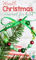 Beautiful Bead Christmas Wreath Christmas tree ornament craft for kids