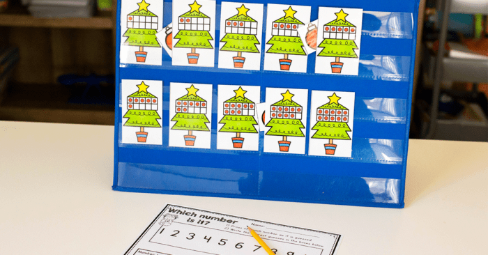 Free ten-frame hide and seek counting game for kindergarten math centers.