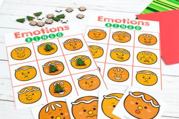 Play Gingerbread emotions BINGO game