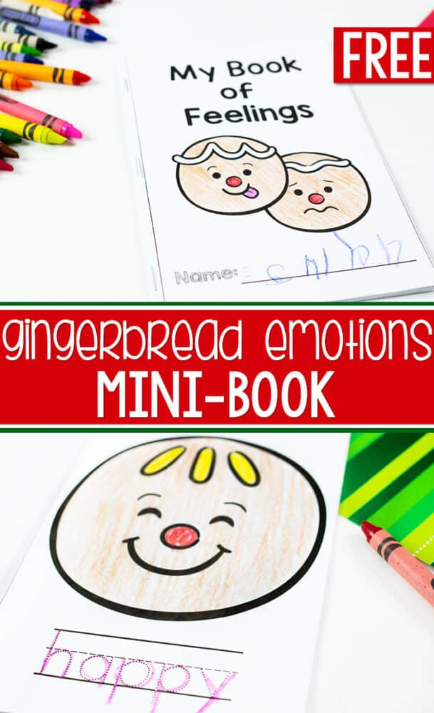 Learn about emotions with your preschoolers using this free printable emotions mini book for a fun emotions writing activity.