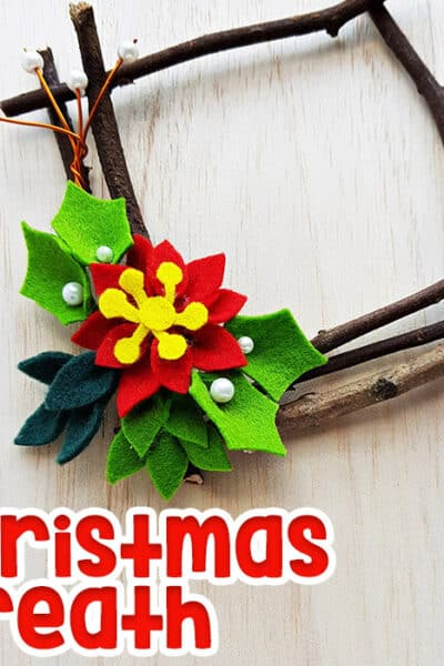 Create a beautiful natural Christmas craft using sticks to create a Christmas wreath.