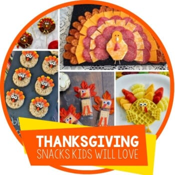Thanksgiving Turkey Snacks For Kids Featured Image