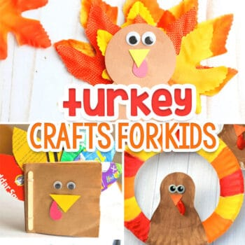 25+ simple turkey crafts for kids. Use materials you already have to make a turkey craft with your kids.