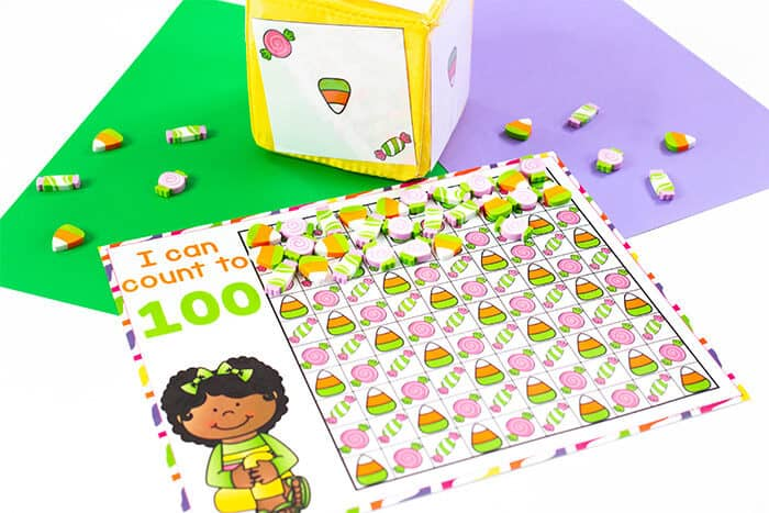 mini eraser counting activities for 1-20! Every kid loves using mini erasers, so why not make learning extra fun with these mini eraser counting grids for 10, 20 and 100