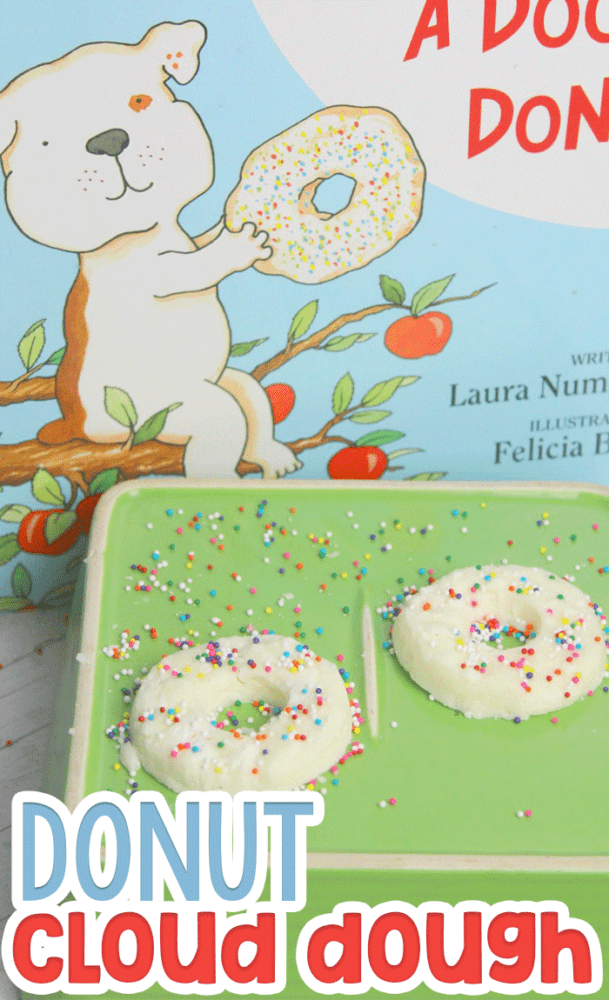 Preschool lesson plan using If You Give a Dog a Donut by Laura Numeroff.