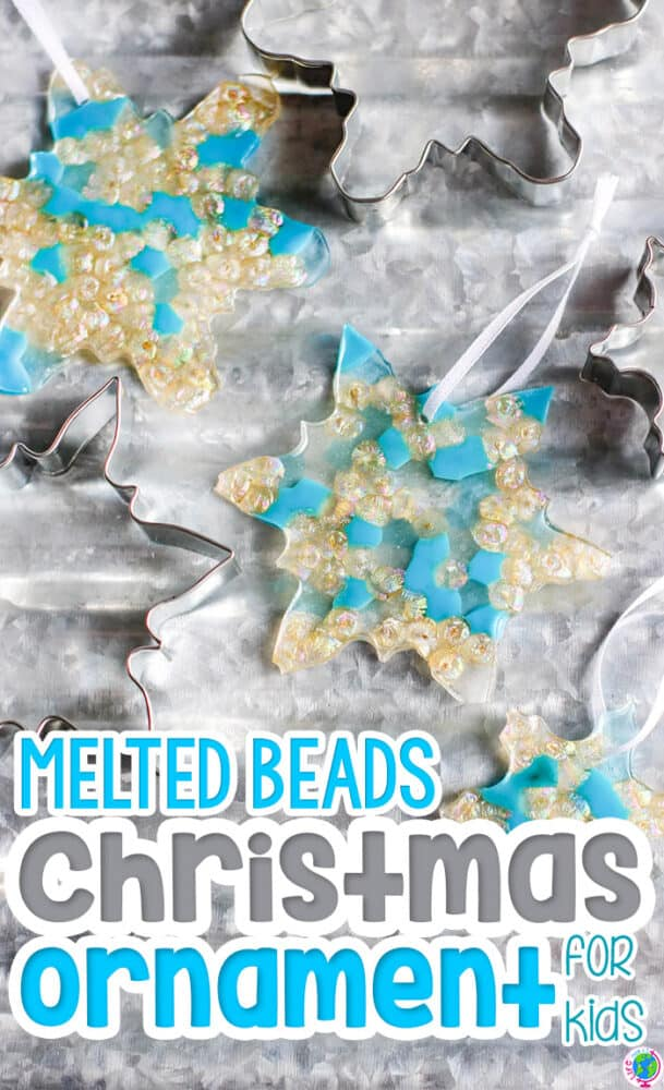 melting beads crafts for kids. Create melted bead snowflake crafts for kids