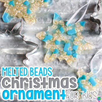 Melted beads craft for kids. Melting plastic beads to create melted plastic bead art with your preschoolers is a fun project!
