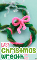 Easy Christmas Pipe Cleaner Wreaths