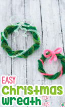 Easy Christmas Pipe Cleaner Wreaths Activity Pinterest image.