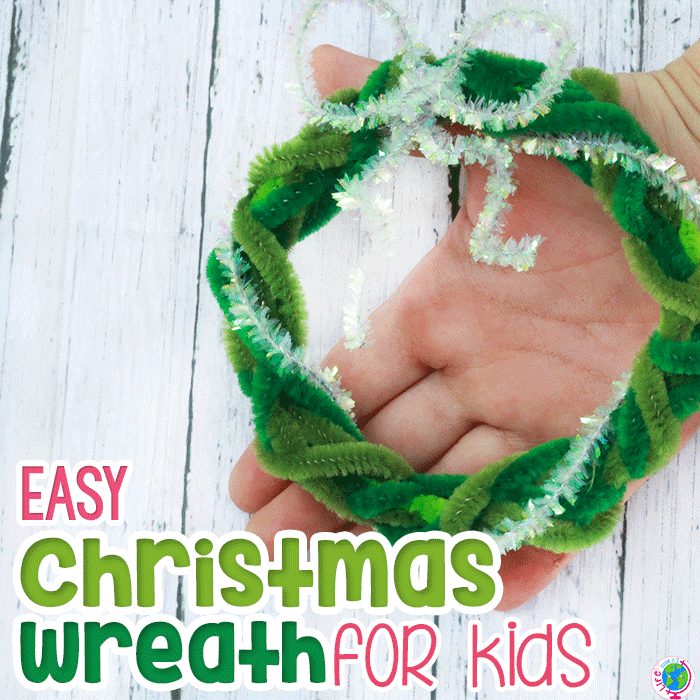 Easy Christmas Wreath For Kids Featured Image