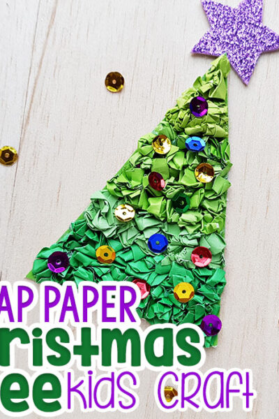Construction Paper Christmas Tree Craft Featured Image