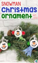 Snowman Tea Light Ornament Kids Craft