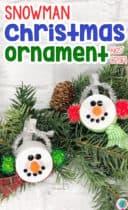 Snowman Tea Light Ornament Craft