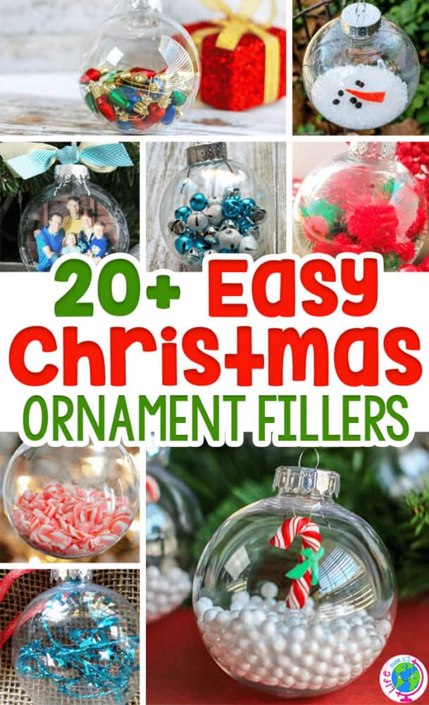 Clear ornaments make the perfect canvas for so many Christmas crafts and fun ornaments! Kids can help you make these fun ornaments that will quickly turn into keepsakes!