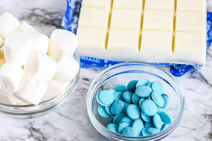 Easy Frozen Themed Marshmallow Pops recipe for kids. A new theme for marshmallow pops makes them fun for your Frozen-loving kids.