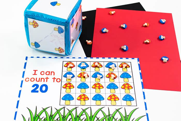 I can count to 20 counting cards printable.