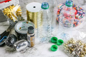 Supplies for DIY Noise makers for New Years Eve