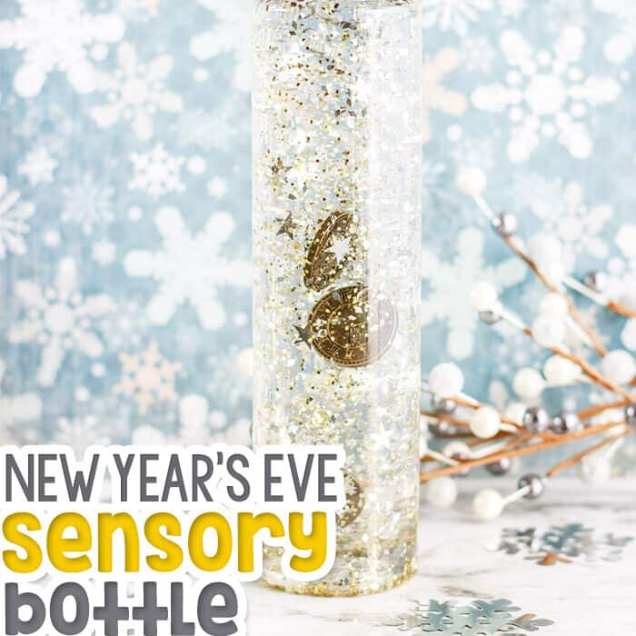 Keep your kids busy during the winter break with these beautiful New Year's Sensory Bottles for Kids!