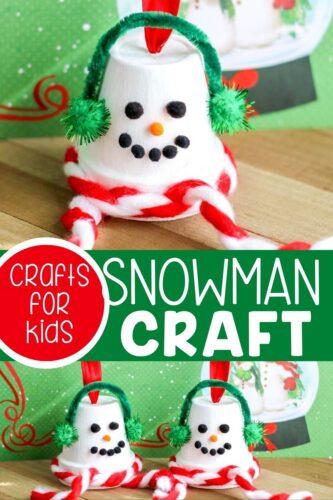 Easy Terracotta Pot Snowman Ornament