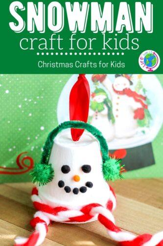 Terracotta Pot Snowman Ornament Craft For Kids