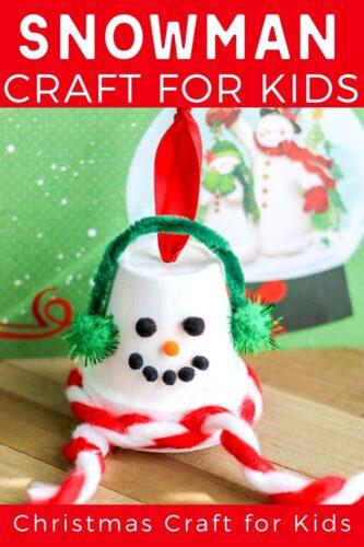 Terracotta Pot Snowman Ornament Craft