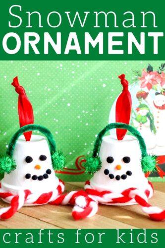 Snowman Ornament Craft For Kids