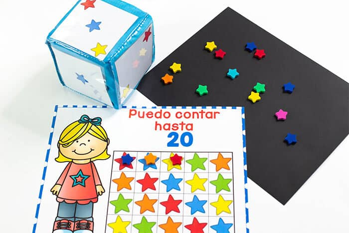 Spanish counting activities for Spanish speaking preschools