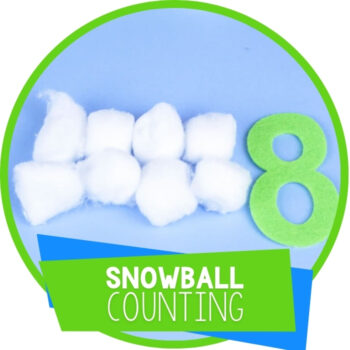 Cotton Ball Snowball Counting Activity Featured Image