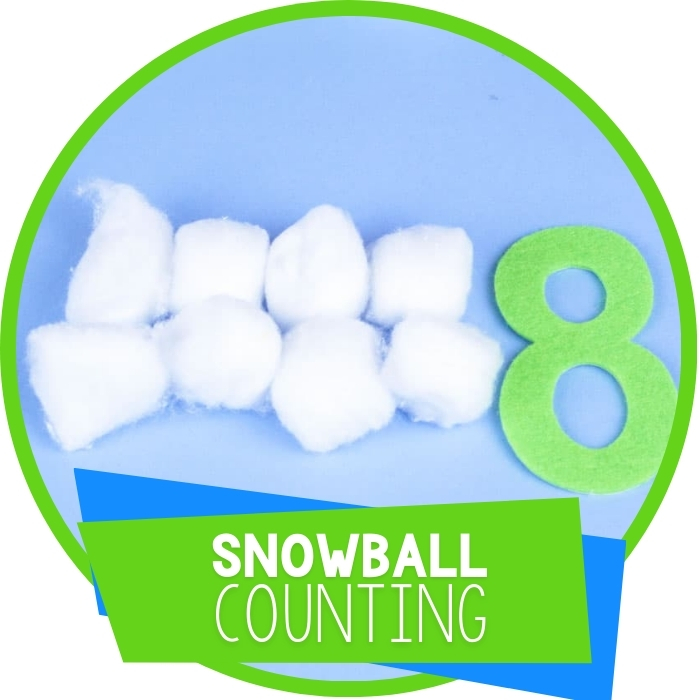 Cotton Ball Snowball Counting Activity for Preschool