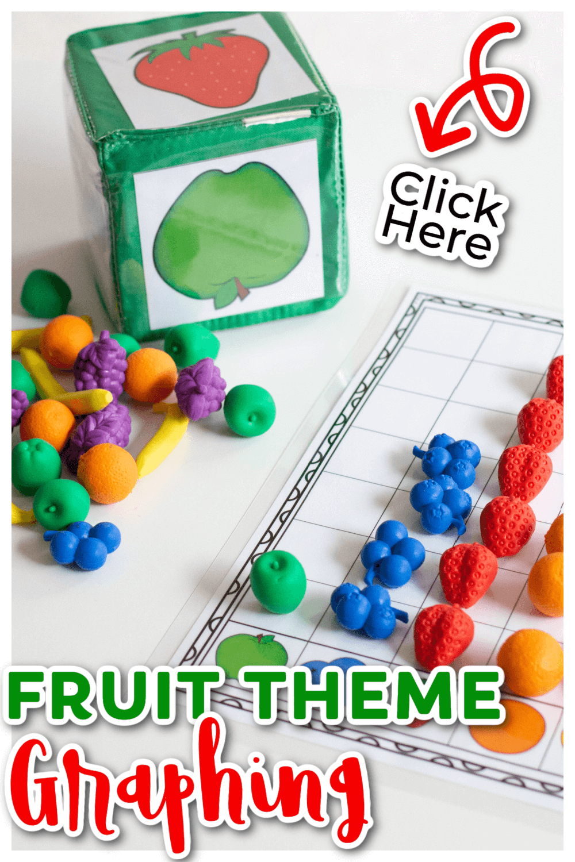 Free printable graphs for kindergarten fruit theme activity