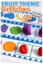 Preschool pattern activities printable set