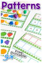 Free printable pattern activity for preschool