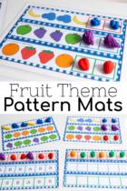 Fruit pattern activity for preschool printables