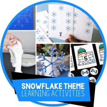 Snowflake Theme Learning Activity Ideas For Kids Featured Image