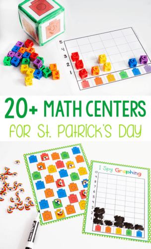 20+ St. Patrick's Day math activities for preschool, pre-k and kindergarten. Work on 2D Shapes, graphing, counting, measurement and more!