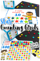 Free printable number games for preschoolers using star mini erasers