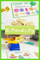 St. Patrick's Day math activities for preschool and kindergarten. Work on patterns, measurement, counting, BIG/small, largest to smallest, size order, color recognition and more with these engaging math centers for March.