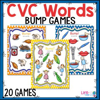 CVC Words beginning phonics game for kindergarten literacy centers
