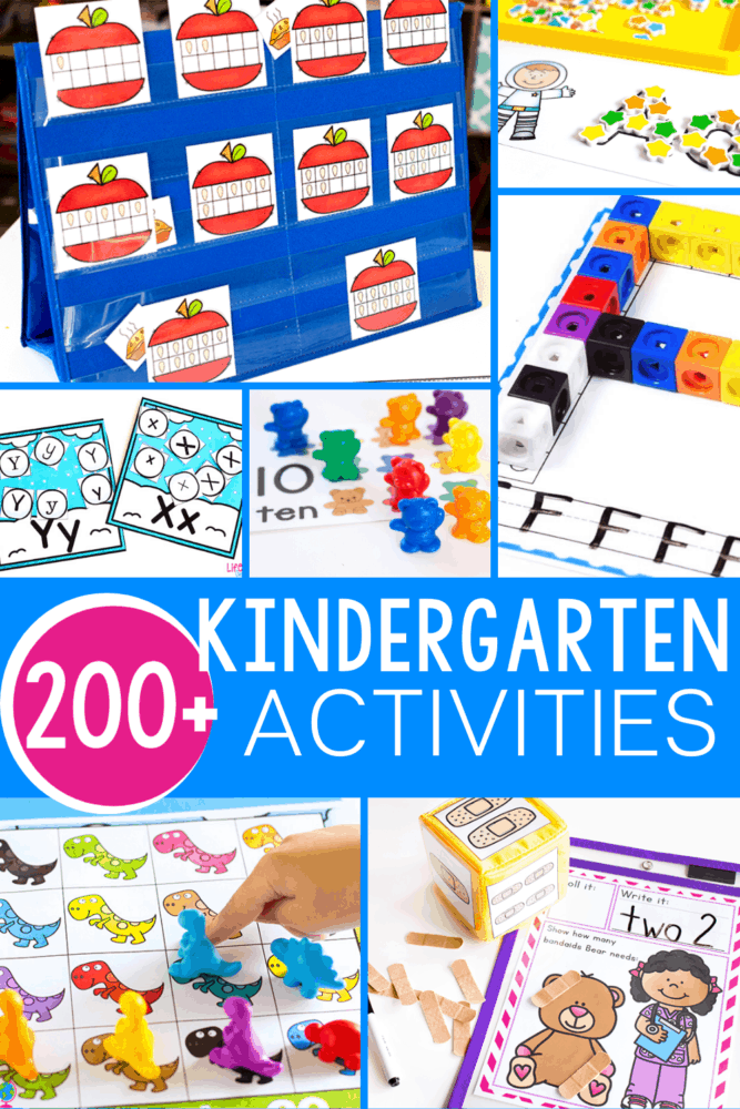 200 + FREE Hands-On Kindergarten Activities -