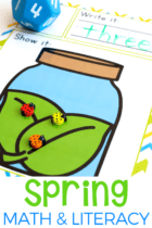 Kids love the spring math activities that are included in the Pre-k and Preschool Spring math and literacy pack. Play dough, sorting, graphing, BINGO games, counting, alphabet activities and more! All in one easy printable set.