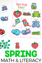Kids love the spring math activities that are included in the Pre-k and Preschool Spring math and literacy pack.