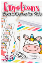 Free unicorn theme social emotional activity for preschoolers