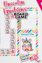 Unicorn emotions board game for social emotional preschool lessons