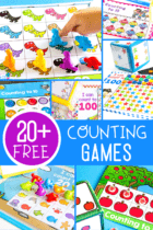 20+ Counting grids for 10, 20 and 100. Play these easy prep counting games with your preschool, pre-k and kindergarten kids for a fun and versatile math activity. Work on counting, addition and subtraction with one simple free printable.