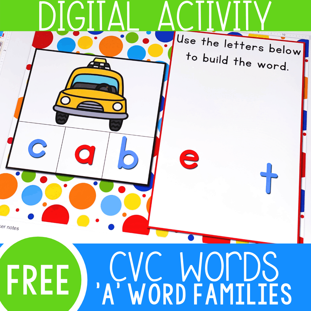 "CVC Words Short Vowel ""A"" Google Slides"